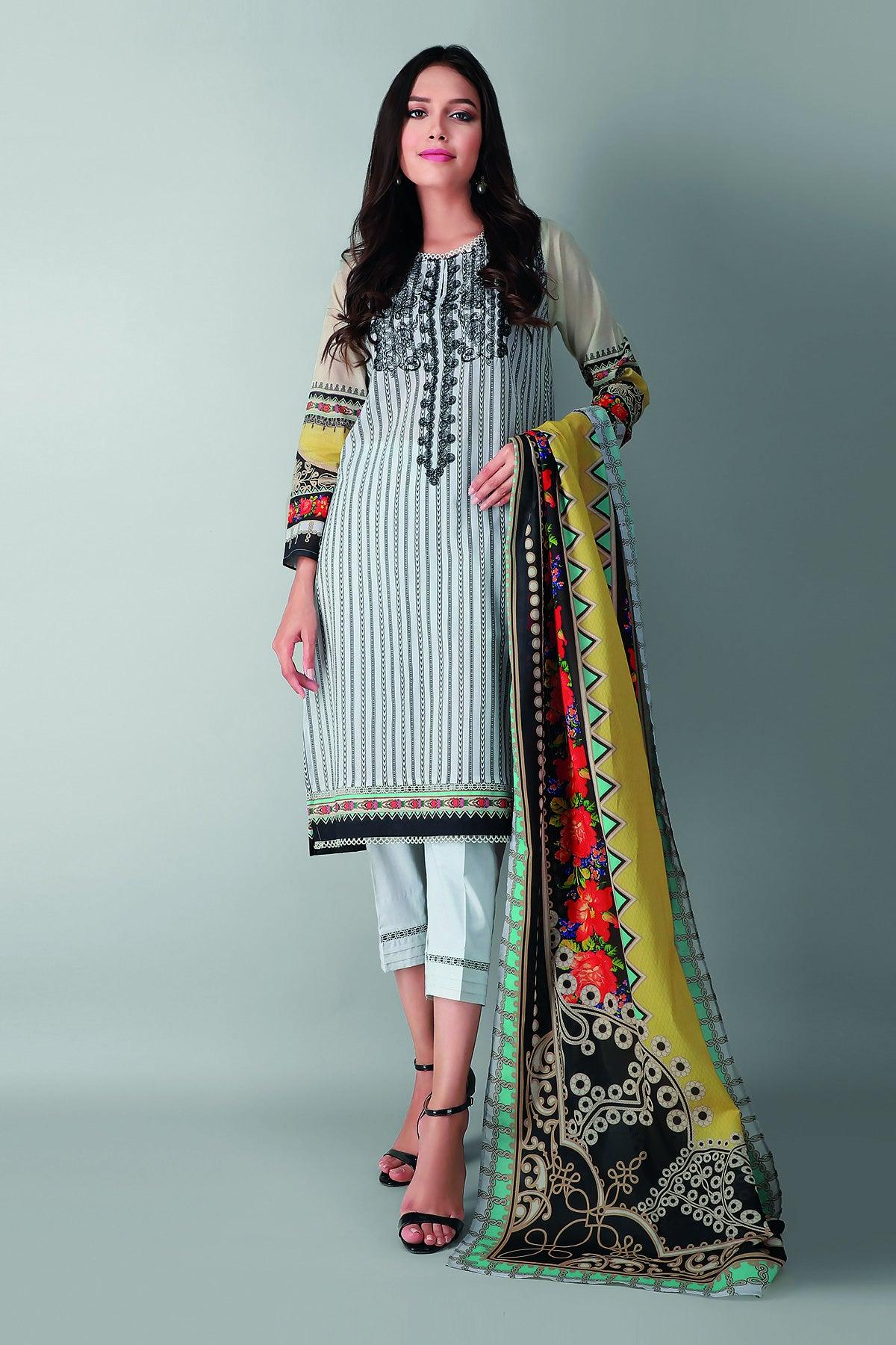 Khaadi B2103004 Off White Festive Collection 2021