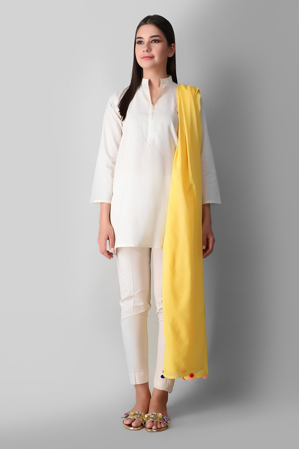 Khaadi Eeds21205 Yellow Ready to Wear 2021