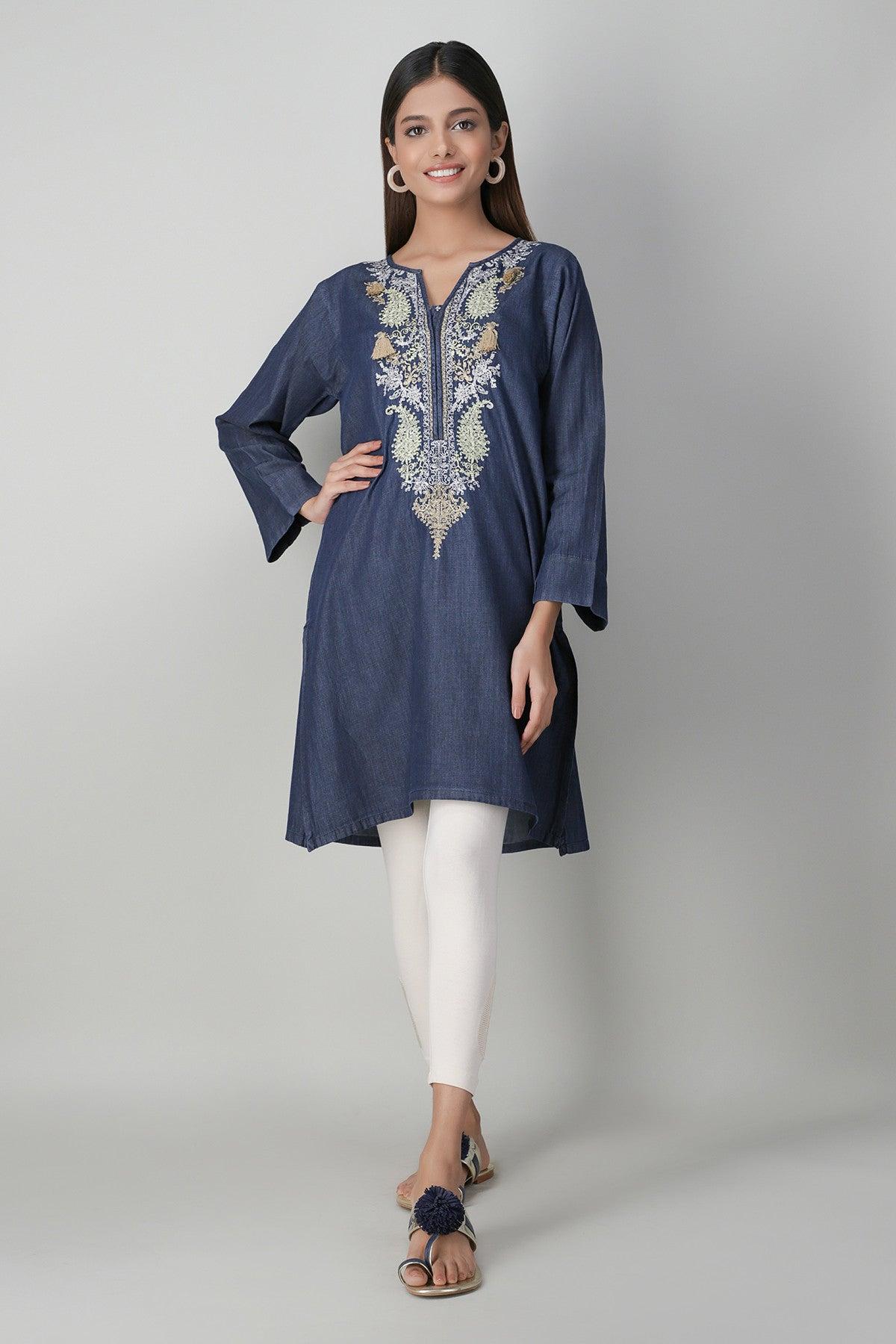 Khaadi EETE20416 BLUE Pret