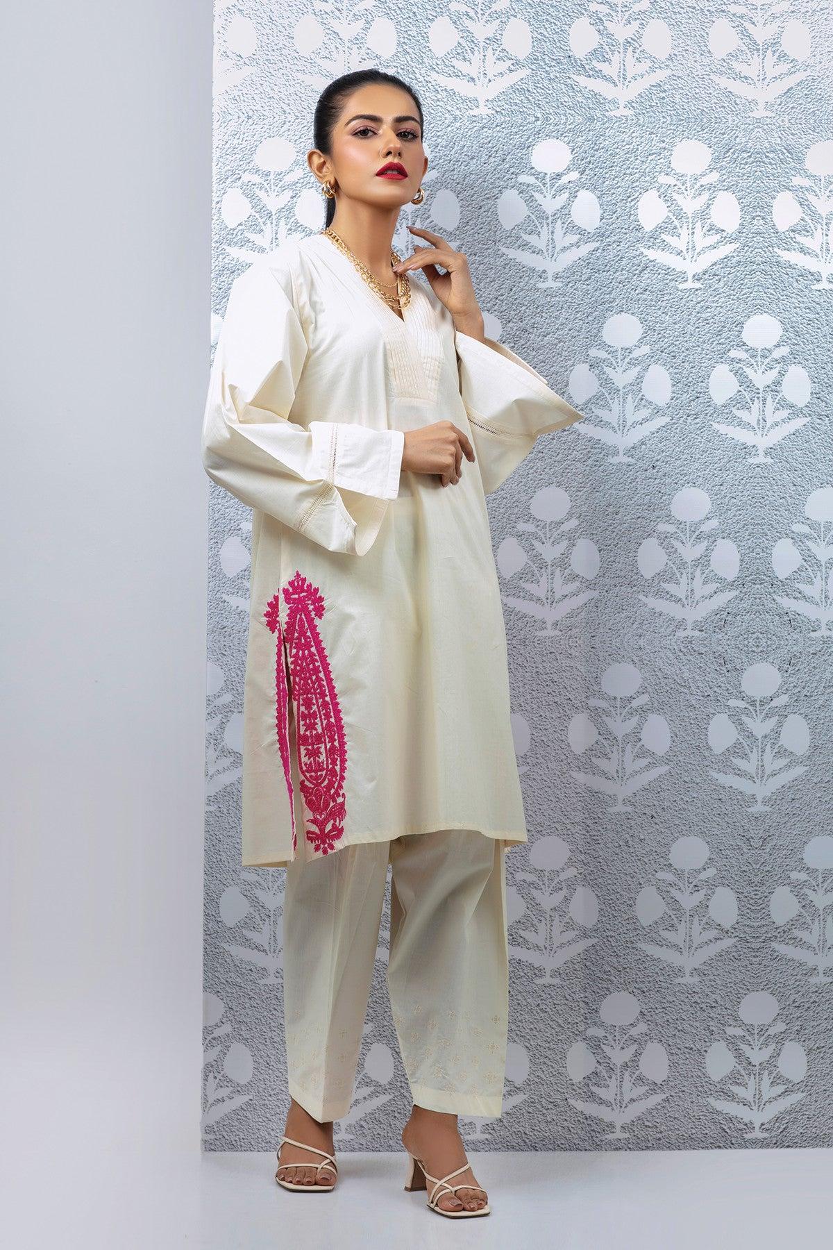 Khaadi Eete21209 Off White Ready to Wear 2021