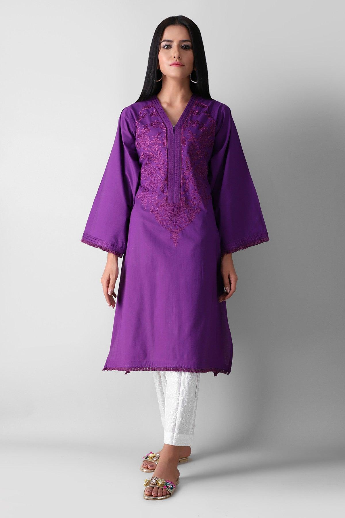 Khaadi Eete21301 Purple Ready to Wear 2021
