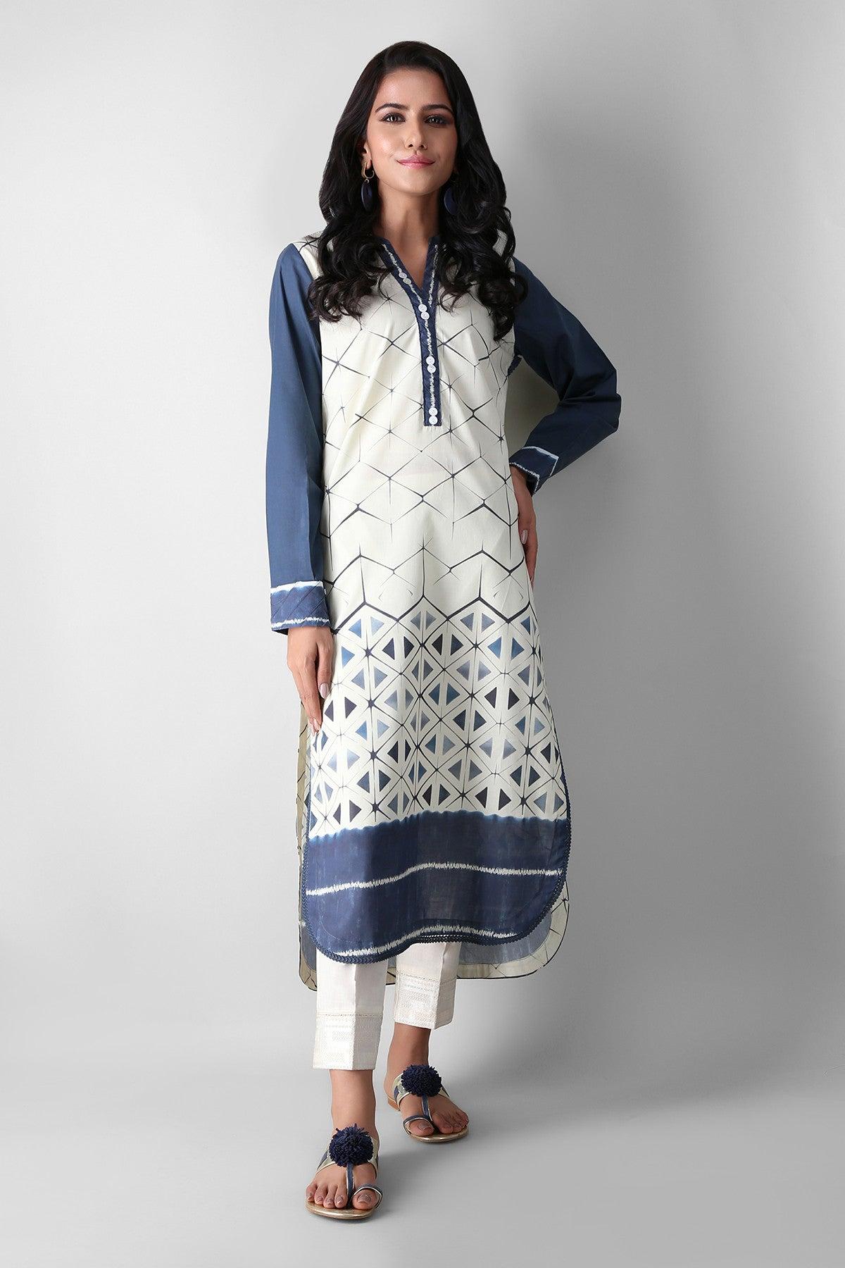 Khaadi Eetp21302 Blue Ready to Wear 2021