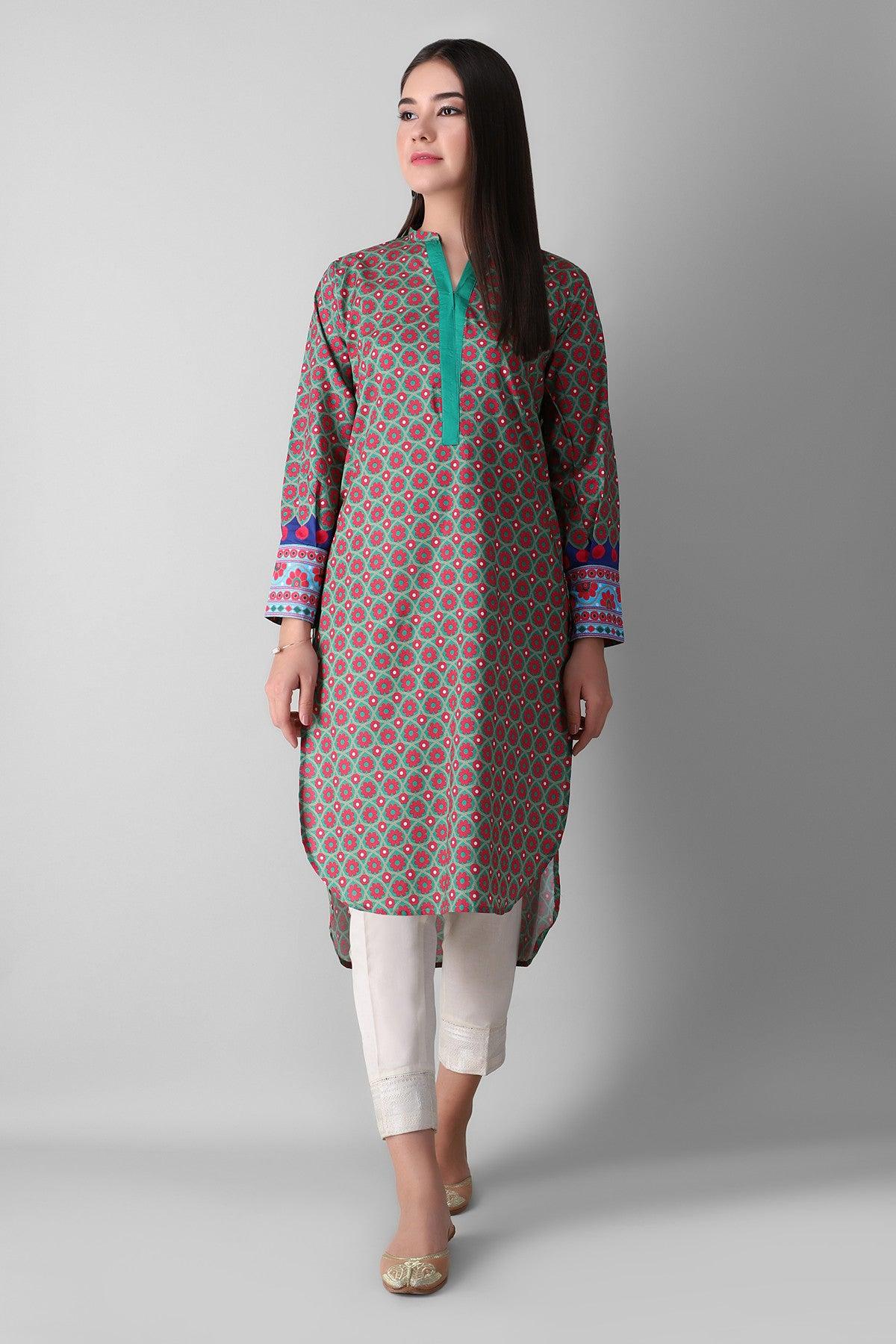 Khaadi Eetp21313 Green Ready to Wear 2021