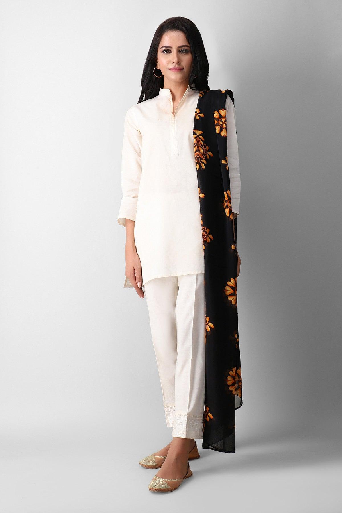 Khaadi Esdp21206 Black Ready to Wear 2021