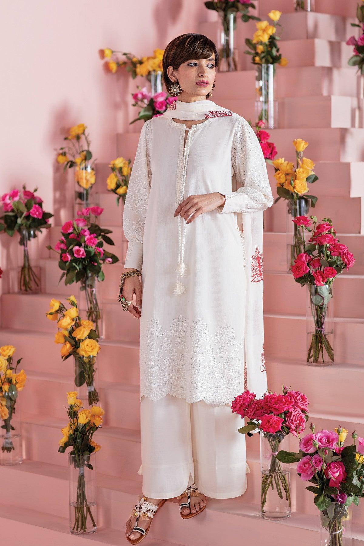 Khaadi Este21207 Off White Ready to Wear 2021