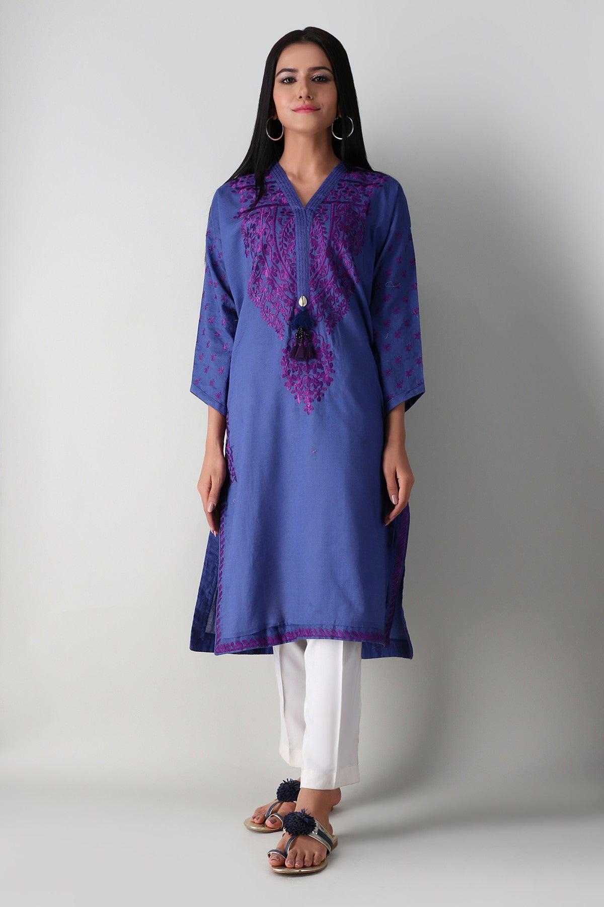 Khaadi Este21211 Blue Ready to Wear 2021
