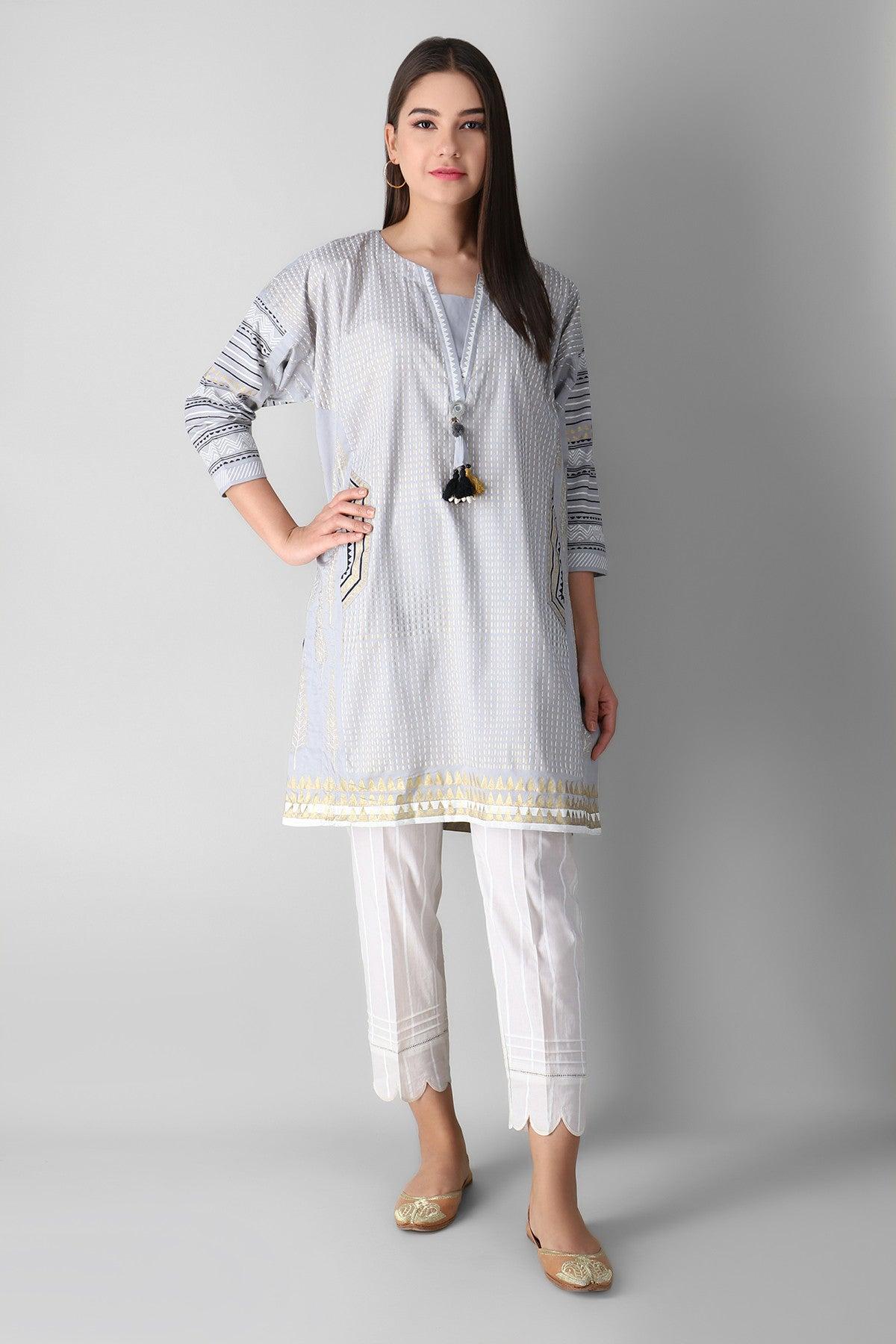 Khaadi Estp21204 Grey Ready to Wear 2021