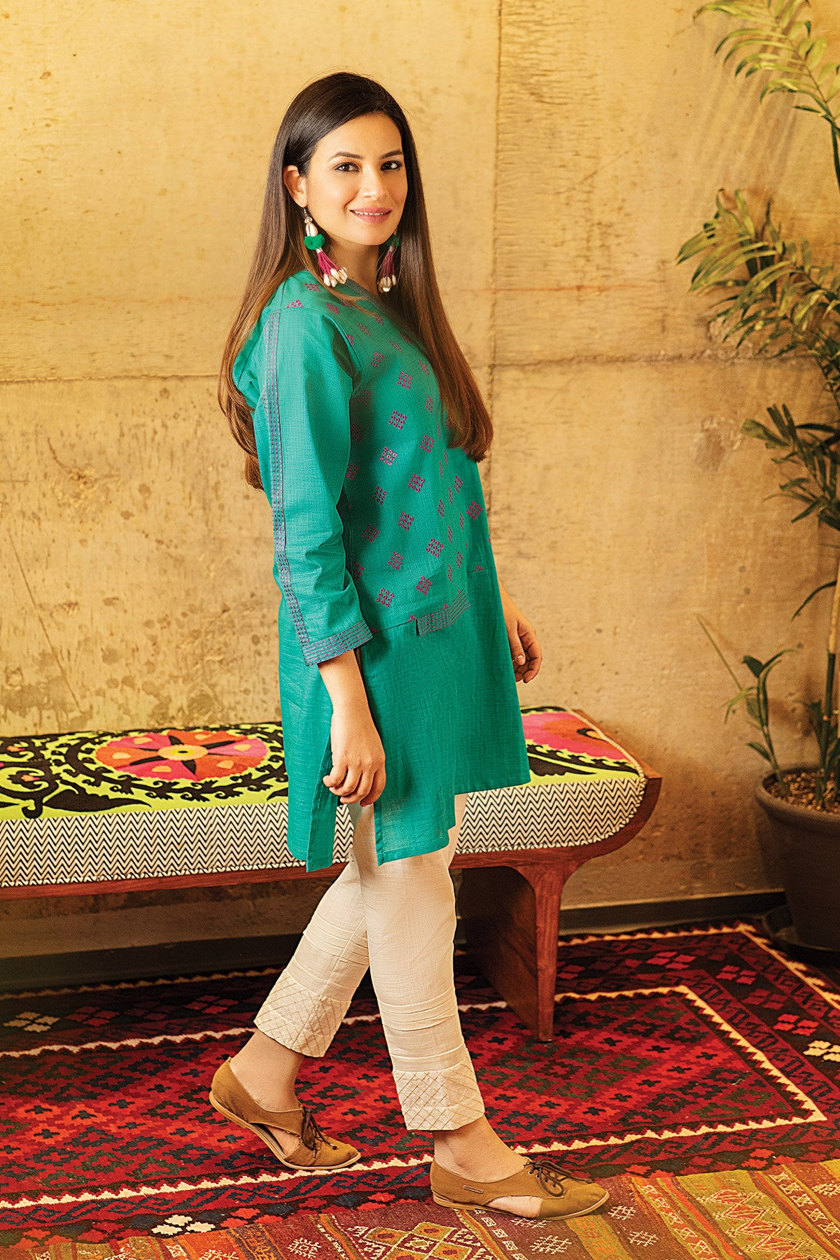 Khaadi ETE20329 GREEN Lawn Pret