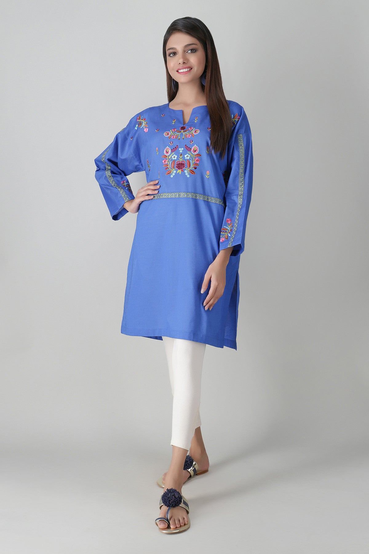 Khaadi ETE20357 BLUE Pret