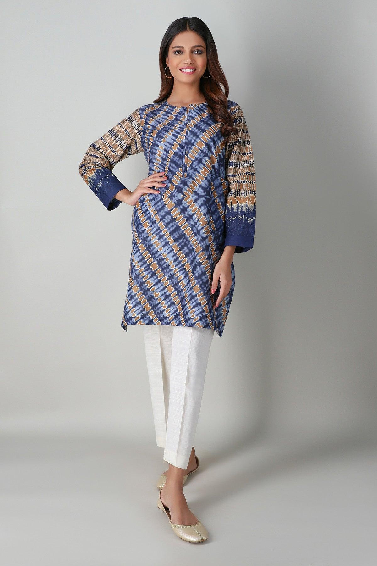 Khaadi ETP20363 BLUE Pret