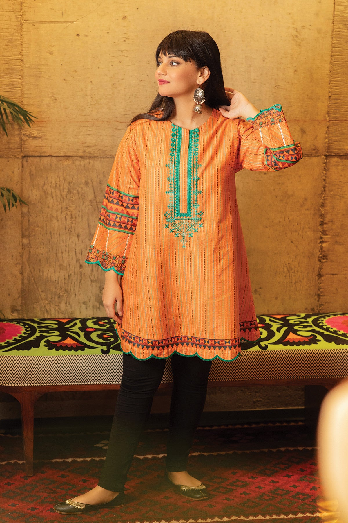 Khaadi ETPE20215 ORANGE Pret