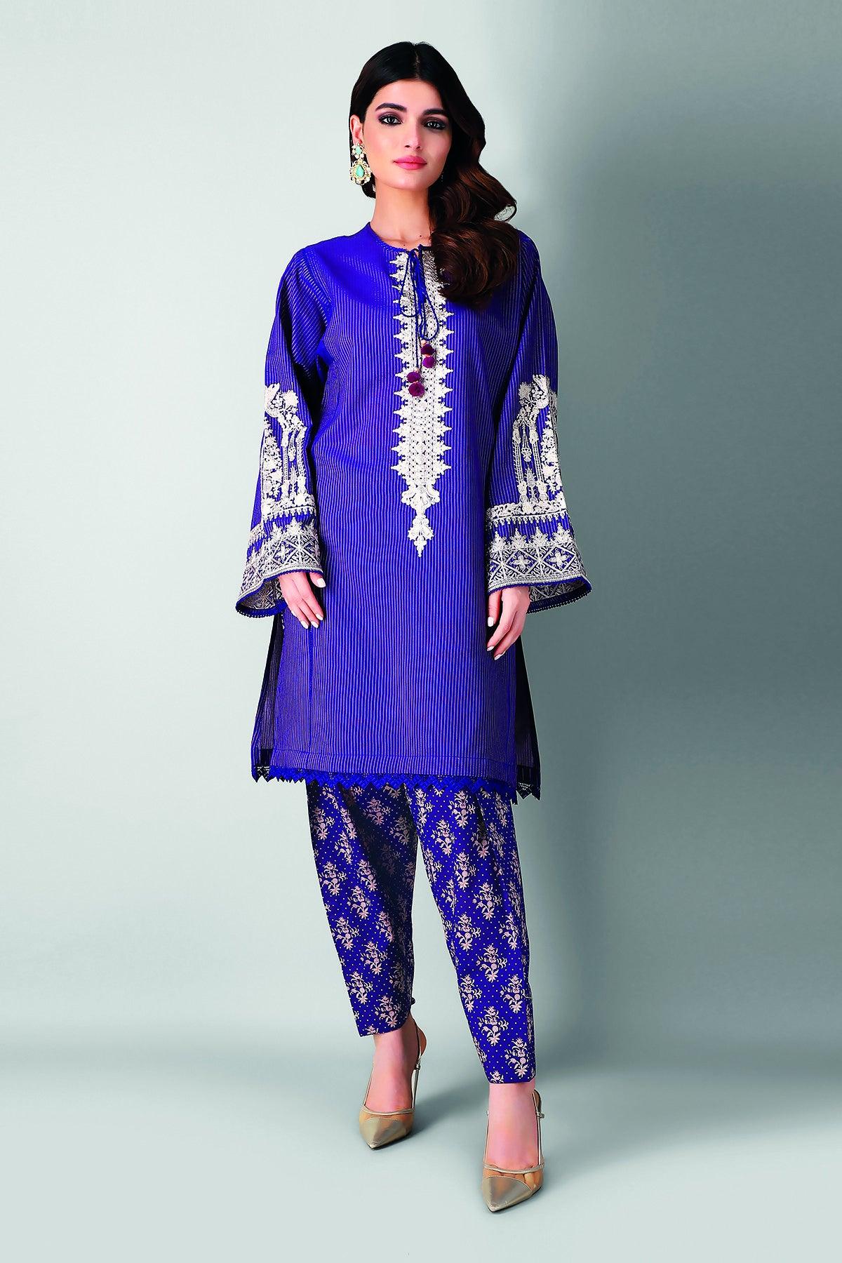 Khaadi Im21205 Purple Summer Lawn